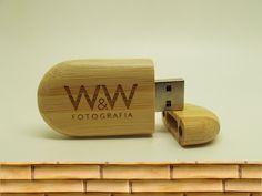 Pendrive Vintage Bambu - By W&W Fotografia
