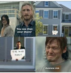 """Another """"To me you are perfect"""" Rick and Daryl << Damn xDDD Walking Dead Pictures, Walking Dead Funny, Fear The Walking Dead, Funny Quotes, Funny Memes, Hilarious, Twd Memes, Captive Prince, Dead Man"""