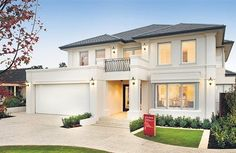 Peter Stannard Display Homes: The Toorak. House Paint Exterior, Dream House Exterior, Dream House Plans, Exterior Design, Casa Top, Moise, Modern Mansion, Storey Homes, Display Homes