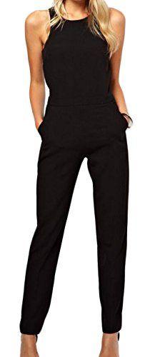 01905ddf79f9 ZSN Women Fashion Sleeveless Club Cocktail Jumpsuit Romper Black US XL   gt  gt  gt. Jumpsuits ...