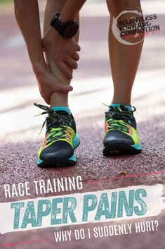 Are aches and pains while tapering for a race indicative of injury, or are they all in a runner's head?  Are your race day goals doomed, or is this normal?  Coach Heather here to help ease your mind...  #Run #Running #Marathon #Ultramarathon #Halfmarathon Running Injuries, Running Workouts, Running Tips, Half Marathon Training Plan, Marathon Running, Full Body Weight Workout, Race Training
