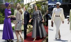 Sheikha Mozah of Qatar - STEPHANE ROLLAND  Regal Drama The Qatari royal has a charismatic presence that Stephane Rolland interprets perfectly. One creation, a hand-painted dress, was commissioned with only five days to spare. In fact, staff were still blow drying the design as it left the atelier.