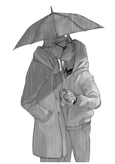 kaciart: soraofskye said: It's raining and they're sharing a kiss under an umbrella. Either Harry or Eggsy stealing a quick kiss.