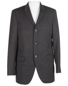 Style from Savile Row. 60s Grey Wool Blazer Jacket