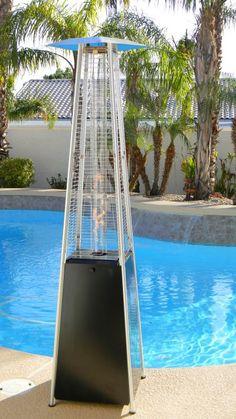 Glass Tower Propane Patio Heater