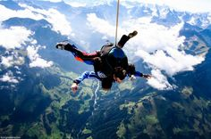 Skydiving Interlaken and Switzerland experienced. Book Interlaken Skydiving adventure online with a deposit. Check the skydiving prices and availability. Helicopter and Airplane skydiving over the Swiss Alps. Best Skydiving in Europe and the world! Outdoor Fun, Outdoor Camping, Nepal Mount Everest, Bungee Jumping, Base Jumping, Drop Zone, Adventure Bucket List, Skydiving, Places Around The World