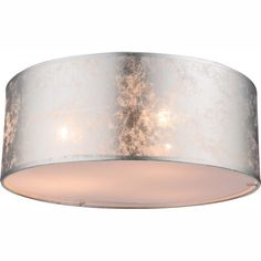 Amy 3 -Light Flush Mount Home Loft Concept Shade colour: Metallic Silver – All For Decoration Flush Ceiling Lights Uk, Ceiling Spotlights, Ceiling Lamp, Lounge Ceiling Lights, Ceiling Lighting, Lounge Lighting, Hall Lighting, Semi Flush Lighting, Bedroom Lighting