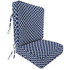 Sunbrella Deep Sea 25 In L X 20 In W Chair Cushion Deep