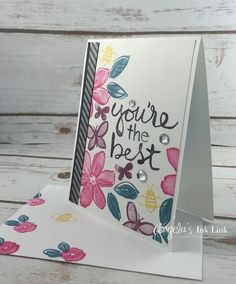 DIY Mothers Day Card Stampin' Up!  www.angelasinklink.com Please re-pin if you enjoy this card! Thank you :)