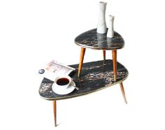 Set Plant Stands / Small Coffee Tables / Flower Stools Mid-century 50's 60s…