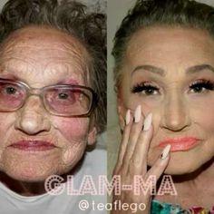 Pin for Later: Oma wird dank Makeup und Contouring komplett verwandelt