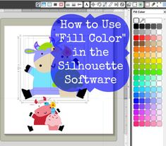 How to Use Fill Color in the Silhouette Software #SilhouetteCameo #Howto #tutorial #LetteringDelights