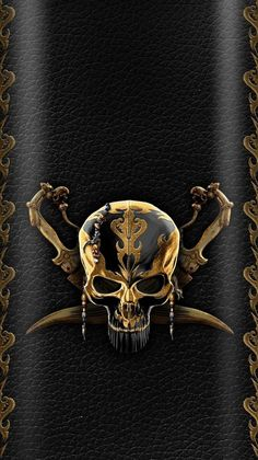 By Artist Unknown. Phone Wallpaper Design, Black Phone Wallpaper, Apple Wallpaper Iphone, Skull Wallpaper, Graphic Wallpaper, Gold Wallpaper, Cellphone Wallpaper, Wallpaper Backgrounds, Hacker Wallpaper