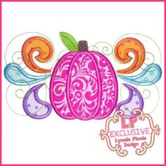 See It All - Bright Swirly Pumpkin Applique 4x4 5x7 6x10 7x11 SVG - Welcome to Lynnie Pinnie.com! Instant download and free applique machine embroidery designs in PES, HUS, JEF, DST, EXP, VIP, XXX AND ART formats.