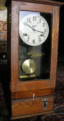 Antique Simplex Industrial Time Recorder Clock Model T 1 W Instructions Clock Antiques Time Recorder