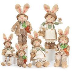 BurtonBurton Decor Bunny Family 6 Piece Figurine Set