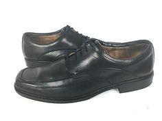 CLARKS Oxfords Mens 14 Black LEATHER Lace Up Shoes #Clarks #Oxfords