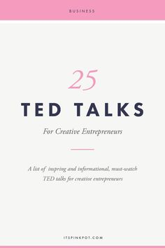 Creative Drawing Often as business owners wearing multiple hats, we get exhausted and burnt out! To keep you going, here are 25 ted talks to pep up and inspire creative business owners! - 25 Must Watch TED Talks for Creative Entrepreneurs - PinkPot Studio Inspiration Entrepreneur, Business Inspiration, Fitness Inspiration, Creative Inspiration, Style Inspiration, Business Advice, Business Planning, Online Business, Business Entrepreneur