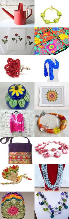 Bright colors for tempt by jessica and bryan king on etsy pinned with
