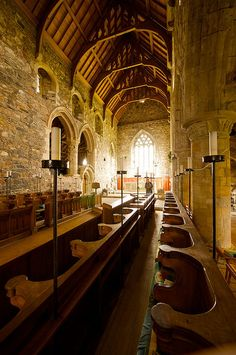 Iona Abbey, Isle of Iona, Scotland. I've been here and am dying to go back. What a beautiful space on a beautiful island.