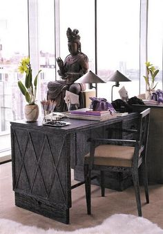 Love this unusual desk via Martha Stewart