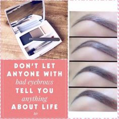 Eye Brow Shaping Kit - neat, precise and easy to use. No more bad eyebrow days! Bad Eyebrows, Tweezing Eyebrows, How To Draw Eyebrows, Threading Eyebrows, Eyebrows Grow, Shape Eyebrows, Eyebrow Shaper, Brow Shaping, Eyebrow Pencil
