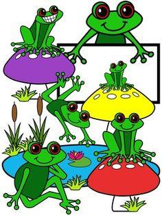frog clipart, molly tillyer clip art