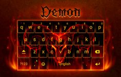 Demon Android Keyboard Theme #android #theme #design #wallpaper #keyboard #technology #gadgets #design #redrawkeyboard #demon