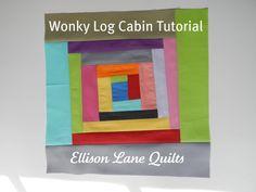 Wonky log cabin tut
