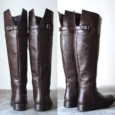Rider's womens distressed tall riding boots in dark brown - shophearts - 1