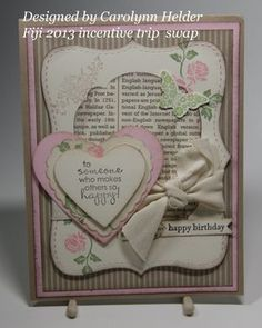 Fiji swaps #3 (Dawns stamping thoughts Stampin'Up! Demonstrator Stamping Videos Stamp Workshop Classes Scissor Charms Paper Crafts)