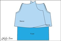 Step 1 - Women's Peasant Top Pattern - Sew a Peasant Top - Melly Sews