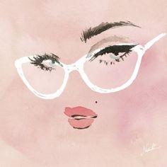 GIF勉強中😊今日は顔。  ホクロって可愛い。個性があるって素晴らしい♡👍🏻  #gif #試作 #wink #watercolor #illustration #fashionillustration #fashion #illust #illustrator #art #drawing #painting #伊藤ナツキ #イラスト #イラストレーター #眼鏡 #glasses #pink #ほくろ #natsukiito #photoshop