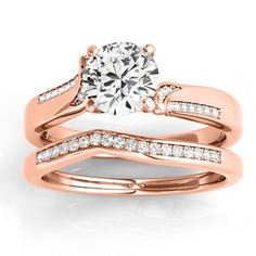Diamond Pave Swirl Bridal Set Setting 14k Rose Gold (0.24ct) -  Allurez.com   #allurez   #jewelry   #jotd   #sparkle   #gemstone   #whitegold   #yellowgold   #rosegold   #gold   #platinum   #palladium   #love   #marriage   #beautifu  l#gorgeous  #elegant   #stunning   #stylish   #glamorous   #womensjewelry   #love   #ido   #weddingring   #bridal   #engaged   #engagement   #marryme   #shesaidyes   #ring   #diamond   #gold   #wedding   #Bride   #Bridal   #engagementrings   #engagementrin..