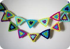 Sugar Plum Tart: Bunting, bunting...everywhere! Plum Tart, Crochet Bunting, Sugar, Wool, Patterns, Crafts, Inspiration, Block Prints, Biblical Inspiration