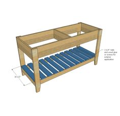 Plans for a sand/water play table by Ana White. Diy Outdoor Toys, Kids Outdoor Play, Backyard For Kids, Outdoor Toy Storage, Outdoor Games, Water Table Diy, Sand And Water Table, Kids Sand Table, Diy Mud Kitchen