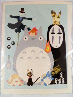 Poster Totoro Ghibli My Neighbor Japanese Promo Movie Cd Miyazaki Anime japan jp