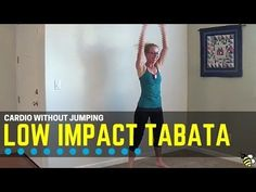 Low Impact Cardio Tabata Workout Low impact doesn't mean low heart-rate! Follow along in real time with this sweaty and challenging low impact Tabata workout, designed to work your major muscle groups as well as your heart and lungs! Bodyweight-only cardio exercises are performed in 20-second intervals with 10 seconds of rest between for eight \u2026 #weightlossmotivation