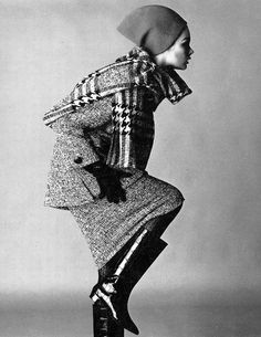 1963 Jean Shrimpton, photo by David Bailey, Vogue, November 1960s Fashion, Vintage Fashion, Jean Shrimpton, 1960s Dresses, David Bailey, Vintage Sportswear, Vogue Uk, Vintage Coat, Suits For Women