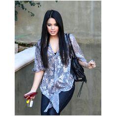Vanessa Hudgens looking Pretty (long straight hair) -LA 1/7 ❤ liked on Polyvore