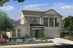 A Modern Take on Family Living Modern sophistication meets innovative design in Cobalt at Skye Canyon with four all new, 2-story floor plans. #LasVegasHomes #LasVegasNewHomes #NewConstruction #NewHomes #LasVegasRealEstate