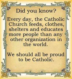 I am VERY proud to be Catholic, the ONLY Church that Jesus Christ Himself started! The Catholic Church Teachings, Mass, Rituals, all come from Jesus and His Apostles. Catholic Religion, Catholic Quotes, Catholic Prayers, Religious Quotes, Catholic Answers, Catholic Rituals, Catholic Traditions, Catholic Churches, Kingdom Of Heaven