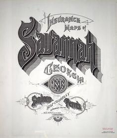 Sanborn Insurance map - Georgia - SAVANNAH 1898