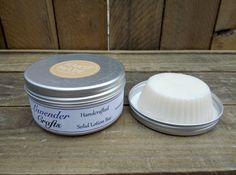 This is my gorgeous handmade solid moisturising lotion bar. It is in a tin so you can take it with you anywhere. This should be taken out and rubbed onto the skin, the heat from your skin melts a small amount and then you can return the bar to the tin and massage into the skin when needed.  #HandmadeInMyKitchen #ForTheLoveOfLavender #LavenderCraftsKilcoole #LavenderCrafts #HandmadeInKilcoole #AllNaturalIngredients #EcoFriendly #PalmOilFree