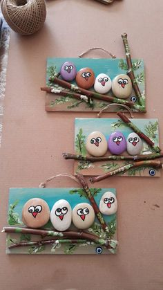 18 Creative Ideas for Painted Pebble and River Stone Crafts 18 kreative Ideen Kids Crafts, Creative Crafts, Diy And Crafts, Arts And Crafts, Creative Ideas For Art, Elderly Crafts, Easy Crafts, Pebble Painting, Pebble Art