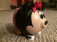Disney Minnie Mouse Hand Painted Ceramic Piggy Bank Medium Red image 2 - Piggy Banks - Ideas of Piggy Banks Mouse Paint, Personalized Piggy Bank, Toy Story Movie, Red Images, Buy Toys, Hand Painted Ceramics, Ceramic Painting, Disney Drawings, Craft Gifts