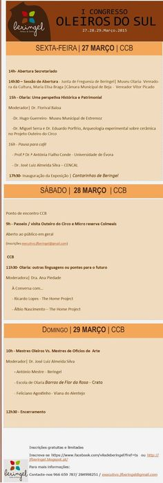 Outeiro do Circo: Programa final I Congresso Oleiros do Sul - Sabore...