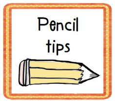 Pencil management tips and a FREE printable.
