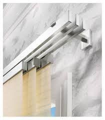 Risultati immagini per tende a pannello Curtain Rod Brackets, Curtain Hardware, Curtain Rods, Modern Curtains, Drapes Curtains, Double Rod Curtains, Holiday Apartments, Window Design, Home Textile