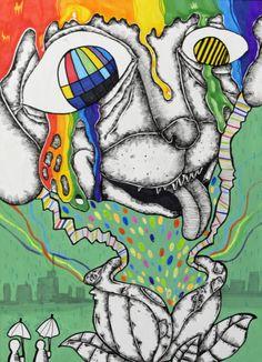 2016 삼육대학교(서울) 전국고교생 미술디자인 실기대회 ※ 기초디자인 주제 A. 거울, 가위, 끈 B. 넥타... Asian Art, Disney Characters, Illustration, Composition Art, Culture Art, Painting, Art, Pop Art, Rainbow